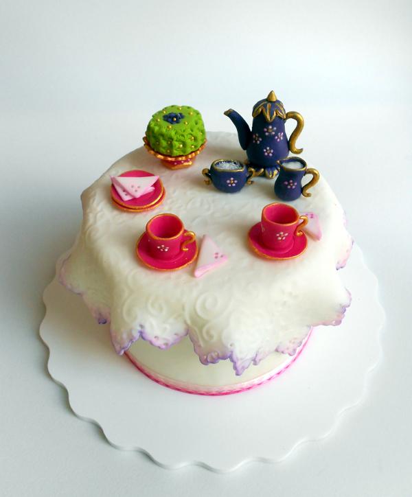 Teapot Topper Cake