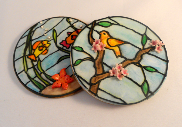 Stained Glass Bird Cookies