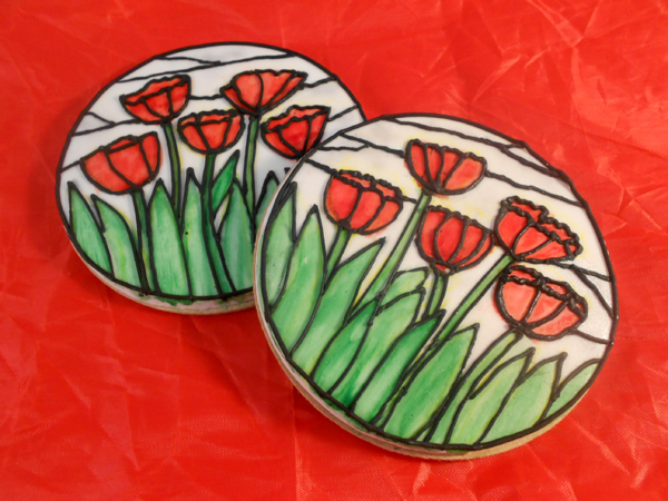Hand painted Tulip Cookies