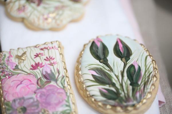 Hand Painted Flower Cookies