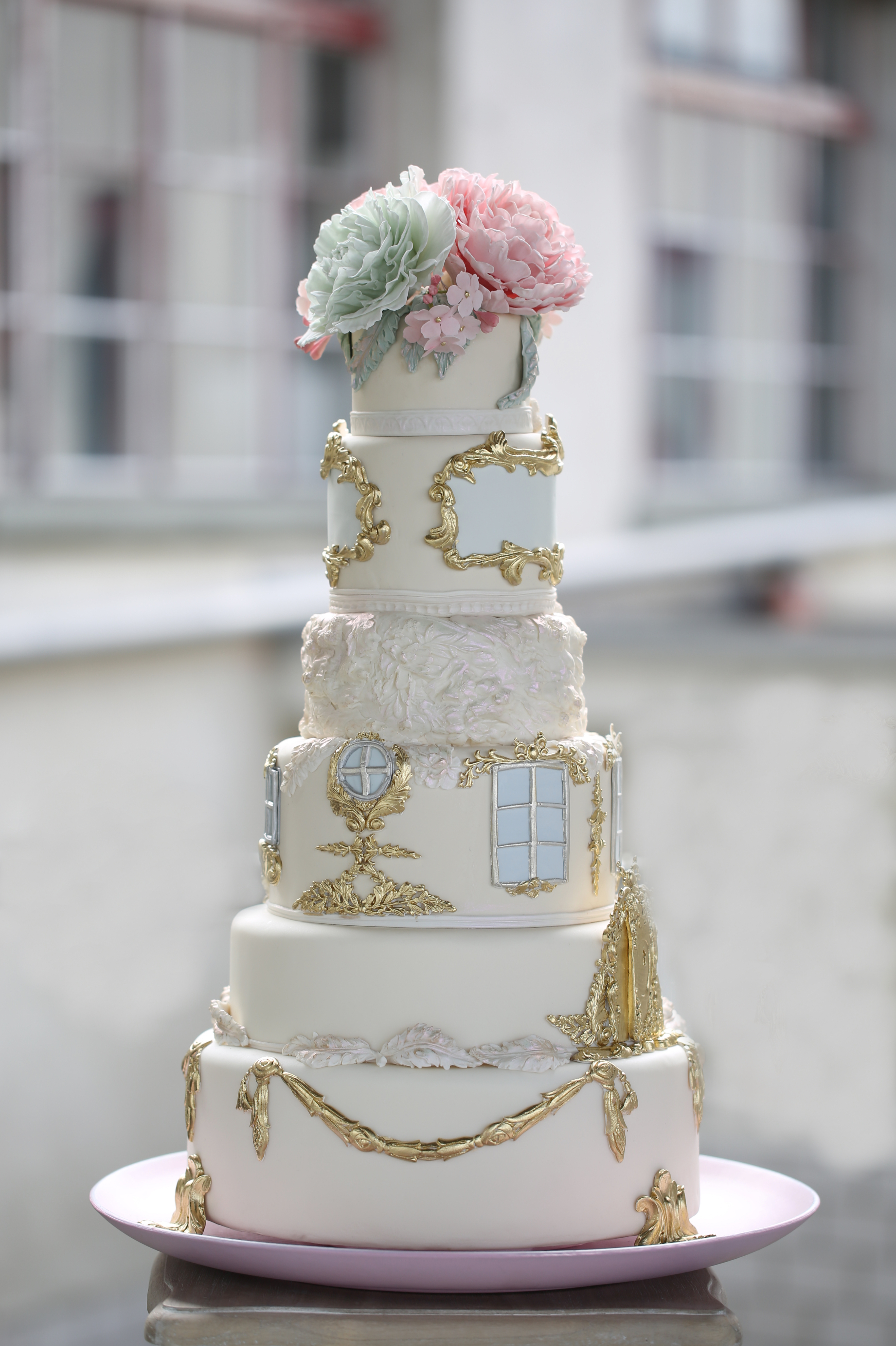 Pastel sugar flower Victorian Themed Wedding