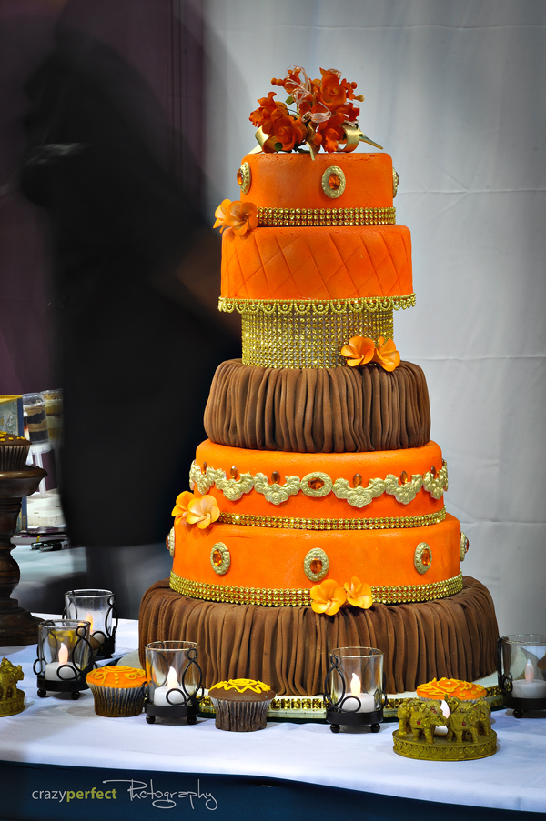Orange and Brown Wedding