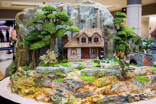 Mythical fairy land cake