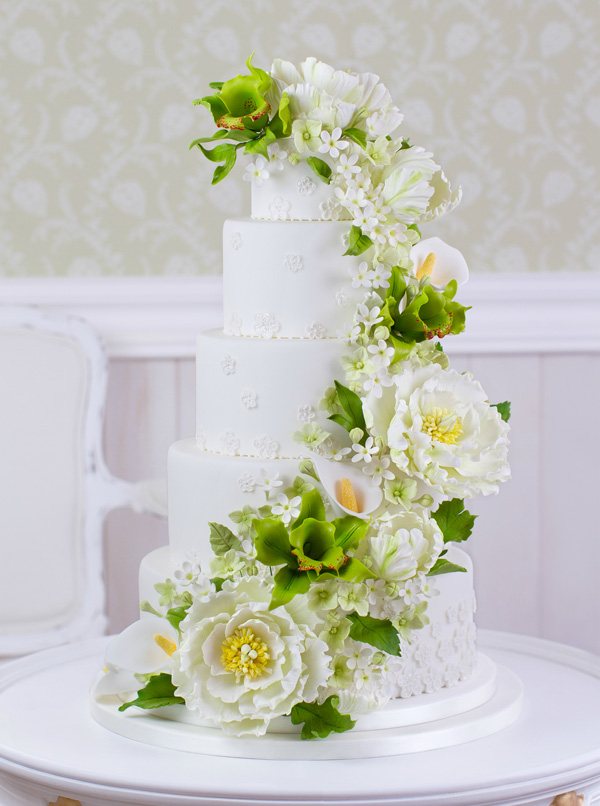 Cascading Flower Wedding