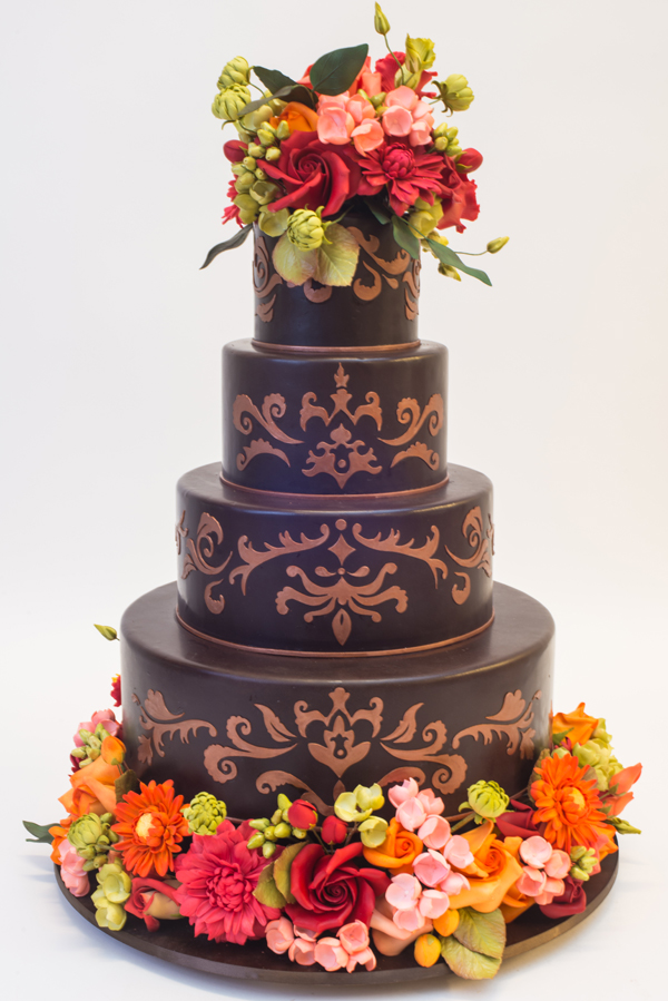 Floral Fall Wedding Cake