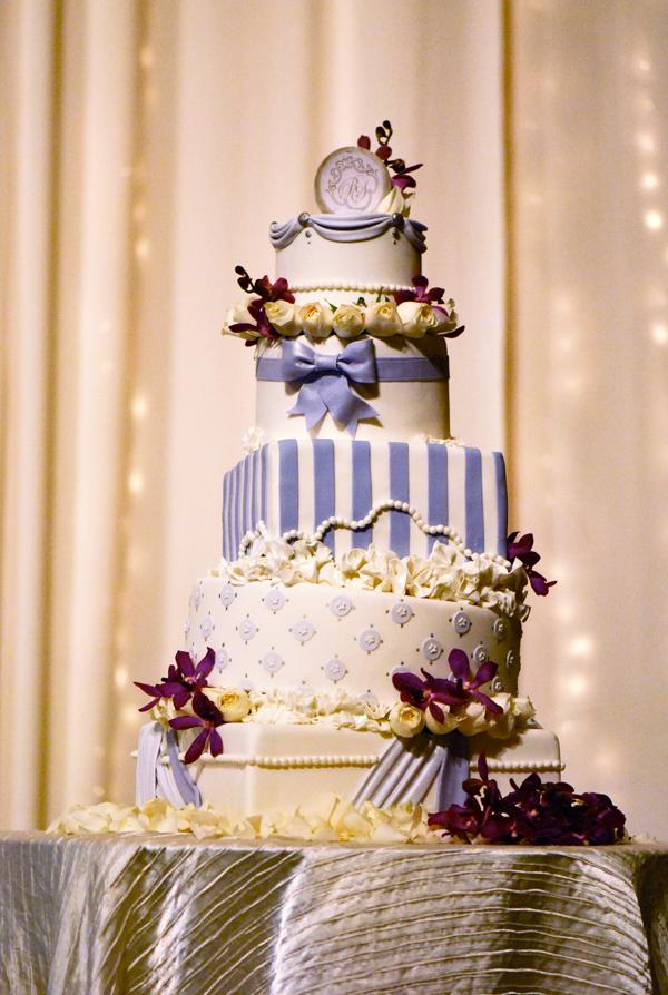 Elegant Floral Topsy Turvey Cake