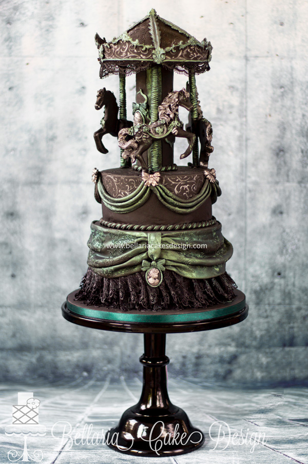 Steampunk Carousel Cake