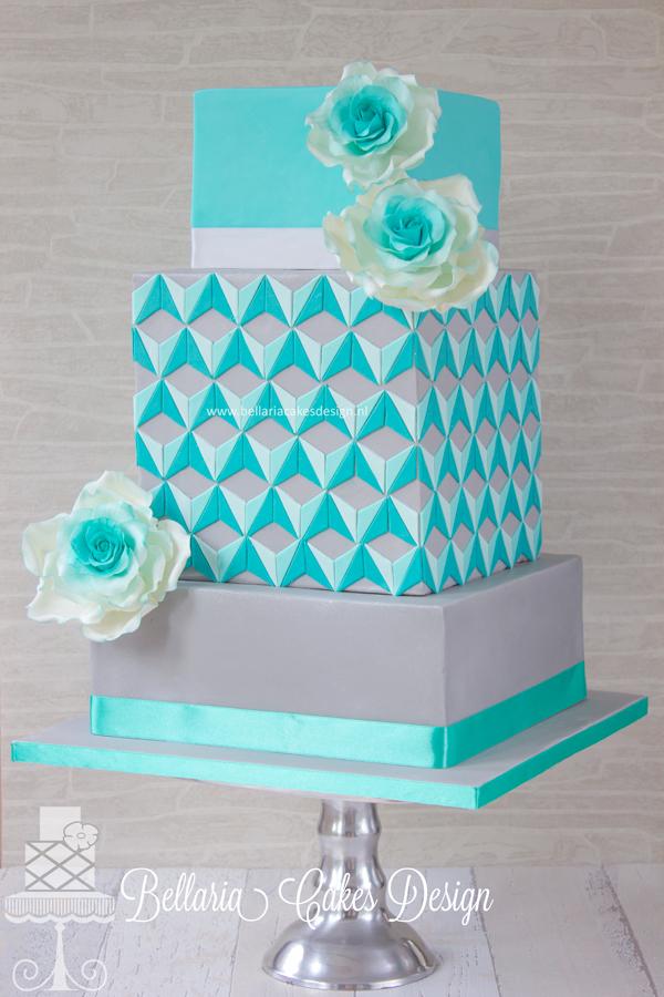 Modern Turquoise Cake