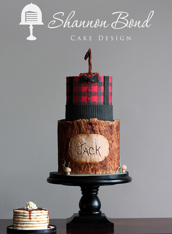 Lumberjack woodland Birthday Cake