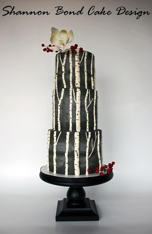 White Birch Cake