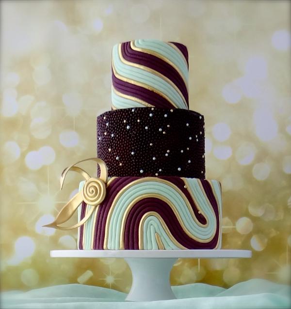 Classy Swirls Modern Cake