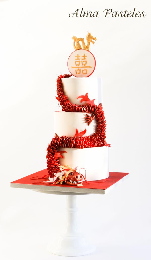 Chinese new Year Dragon Wedding Cake