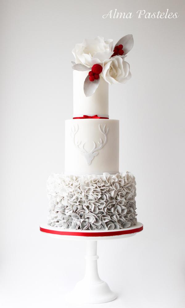 White & Gray Wedding Ckae