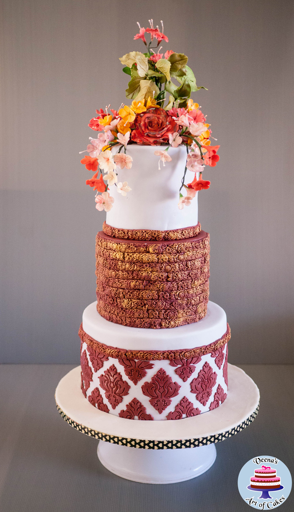 Embossed Floral Cake