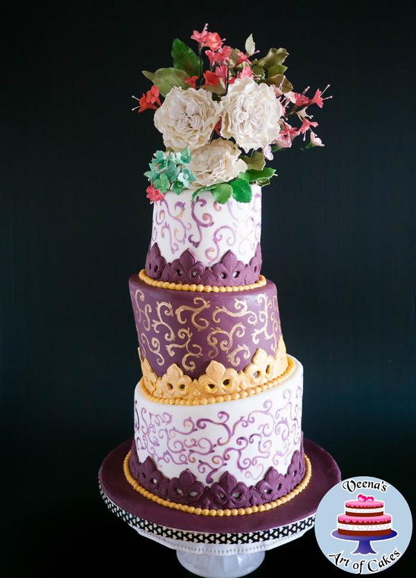 Elaborate Floral Cake