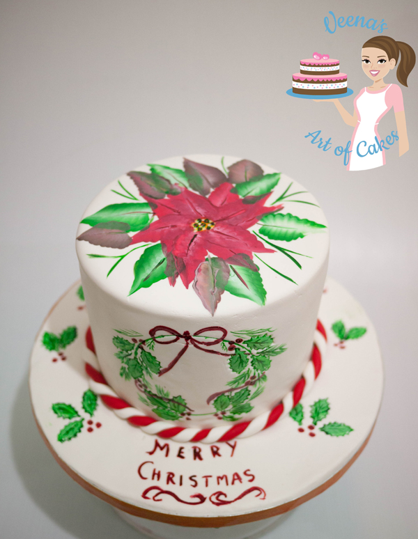 Painted Christmas Cake