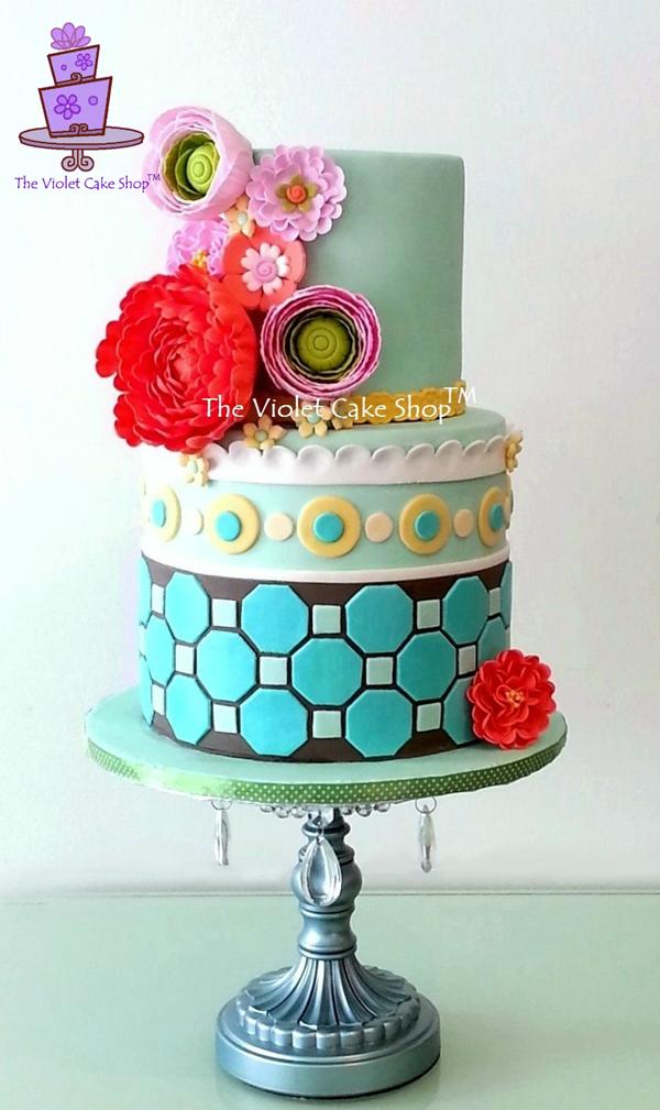 Vibrant Flower Cake