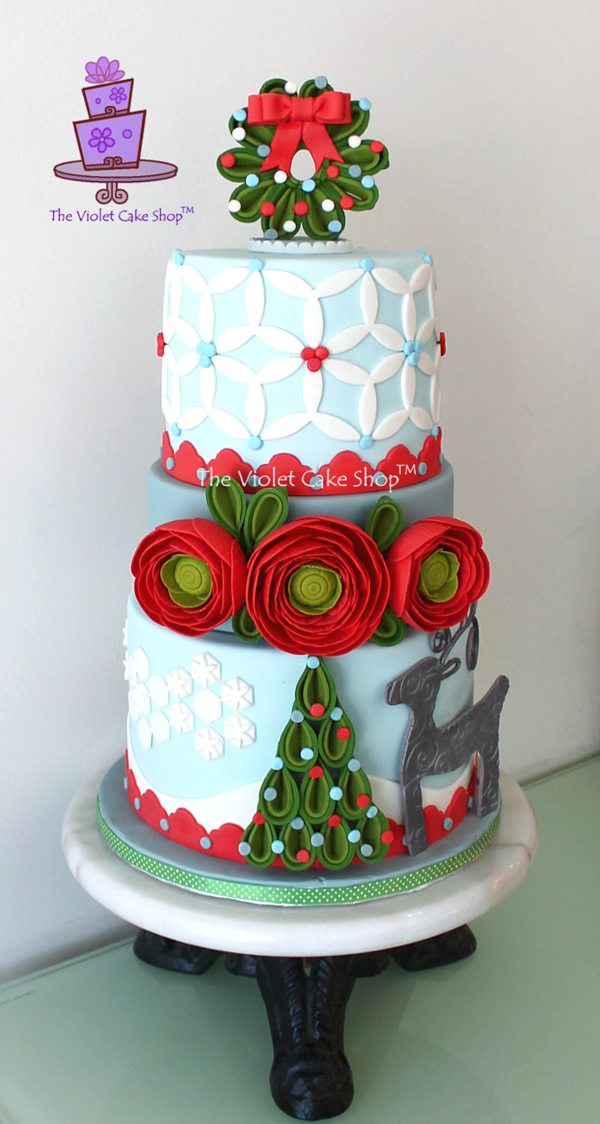 Quilled Christmas Cake