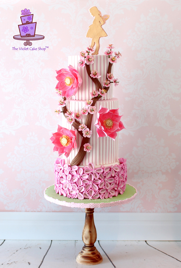 Quilled Sakura Blossom Cake