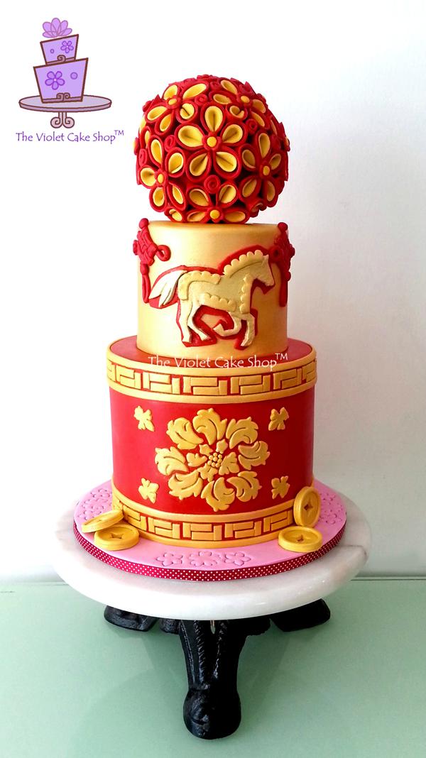Quilled Flower Design Cake