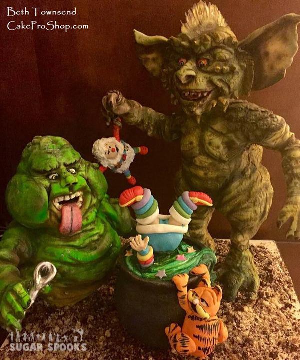 Gremlin monster cake