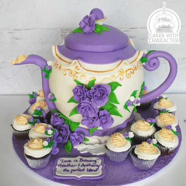 Sculpted Tea Pot
