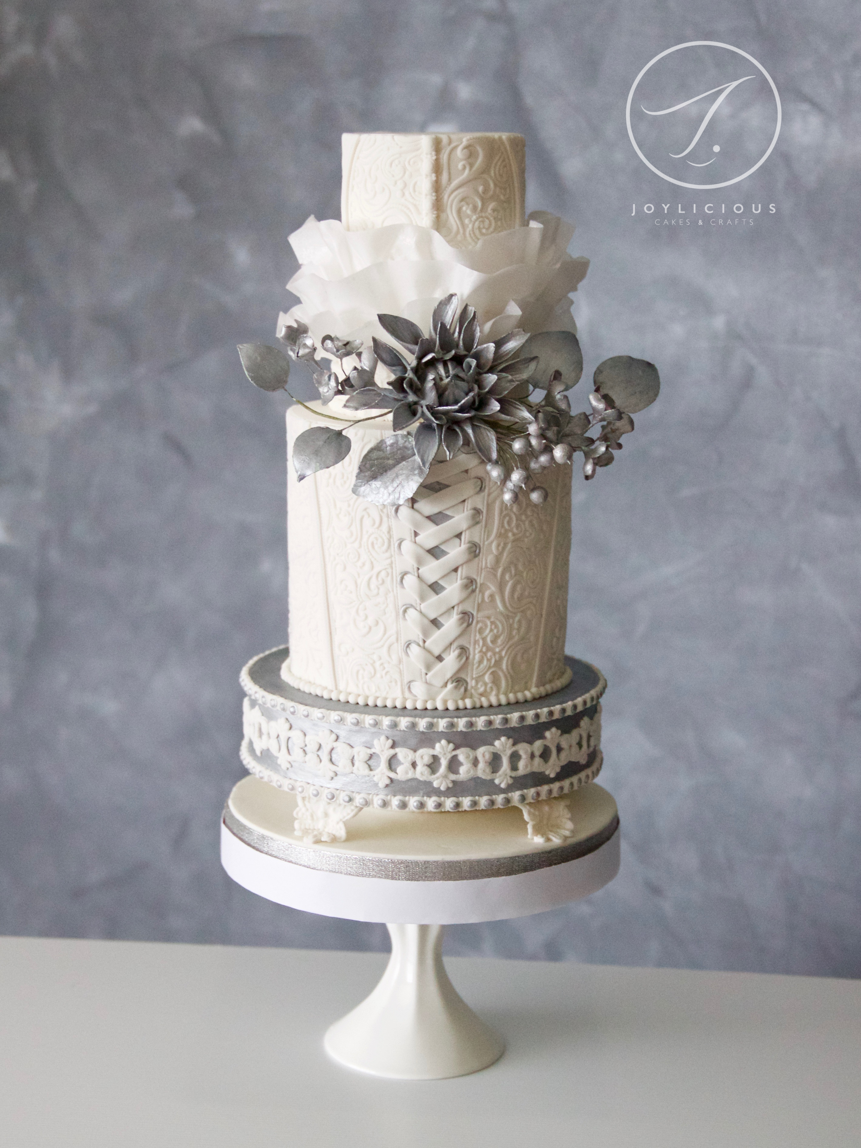 Roccoco White And Silver Wedding
