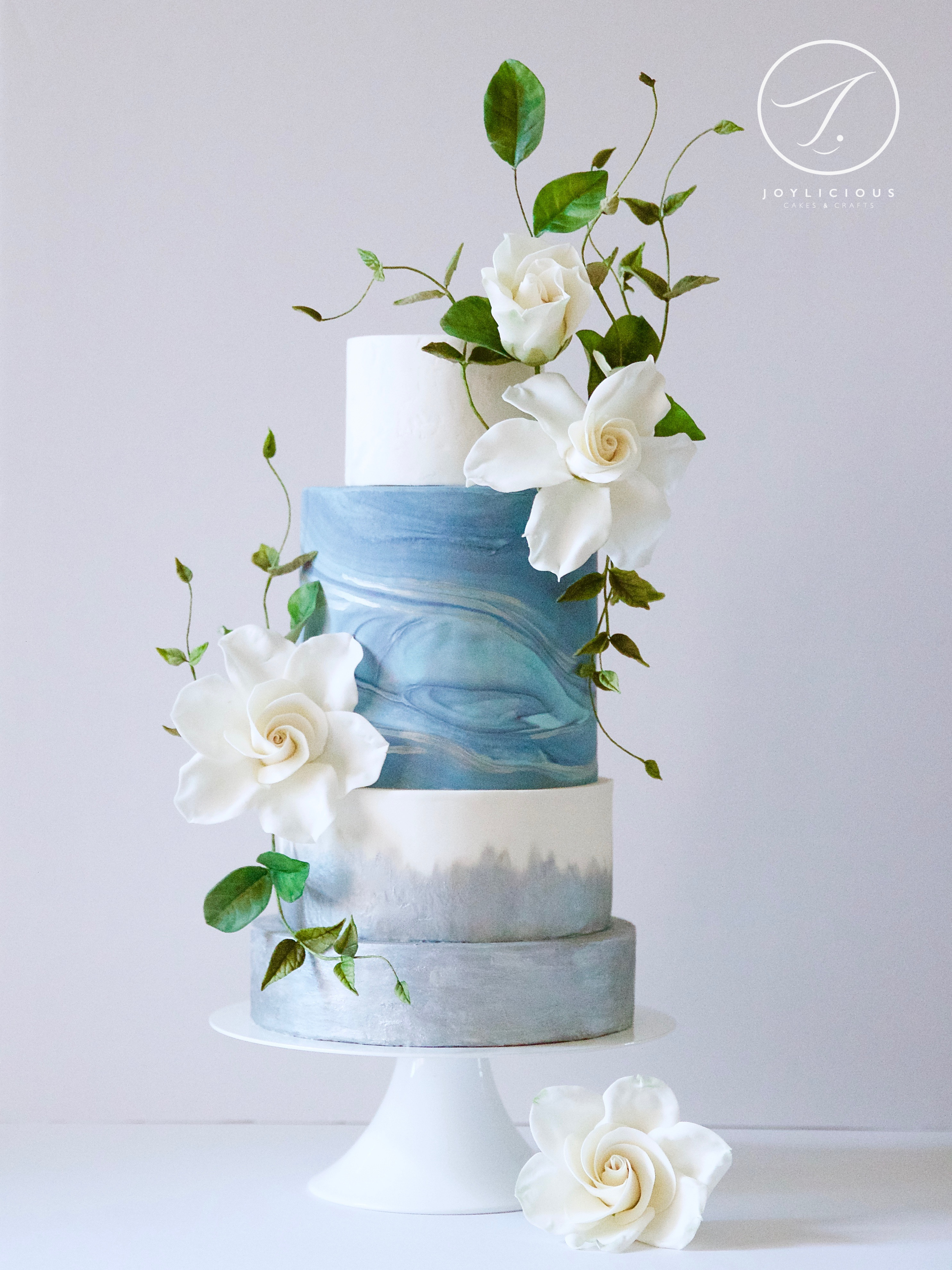 Gardenia Sea blue and white wedding