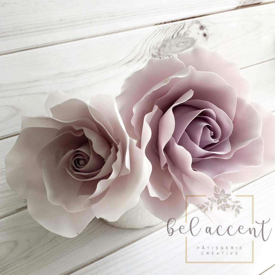 Light pink sugar roses