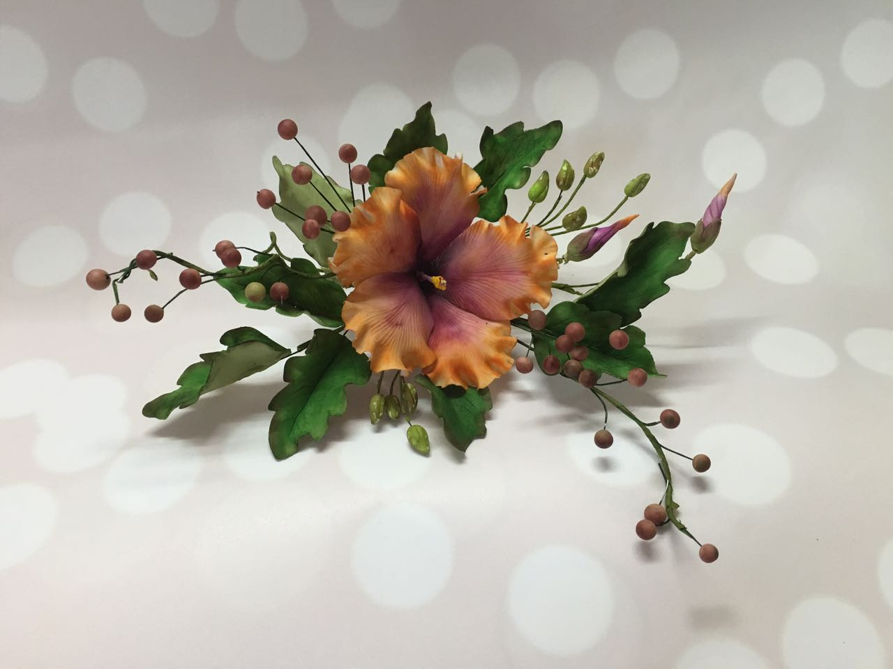 Neha shah satin ice burnt orange hibiscus purple flower izmirmasajfo