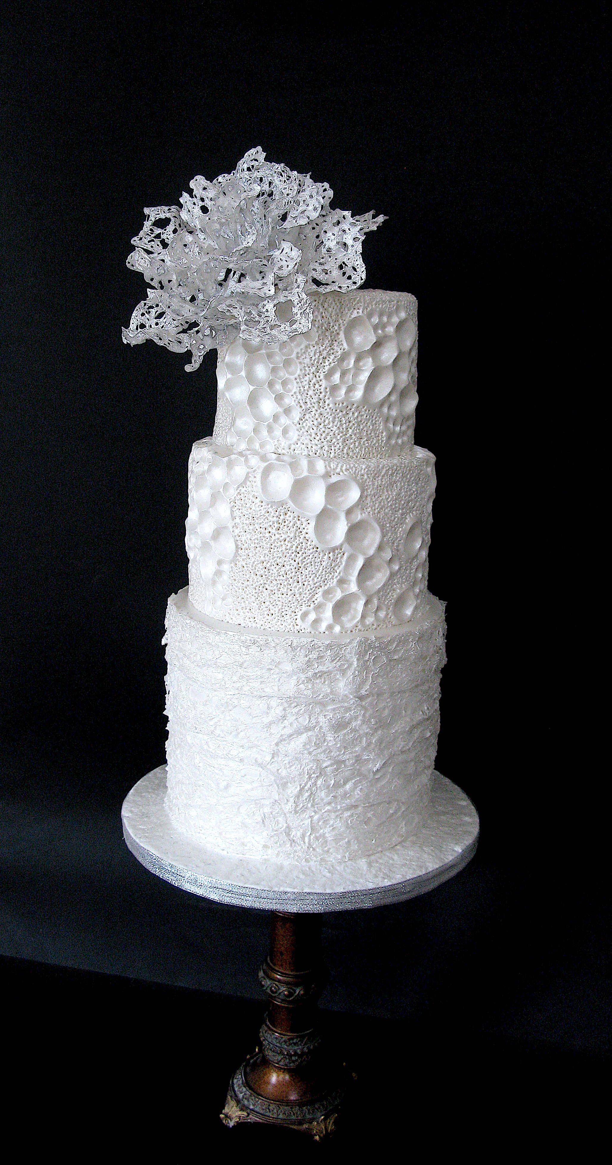 White coral textured cake