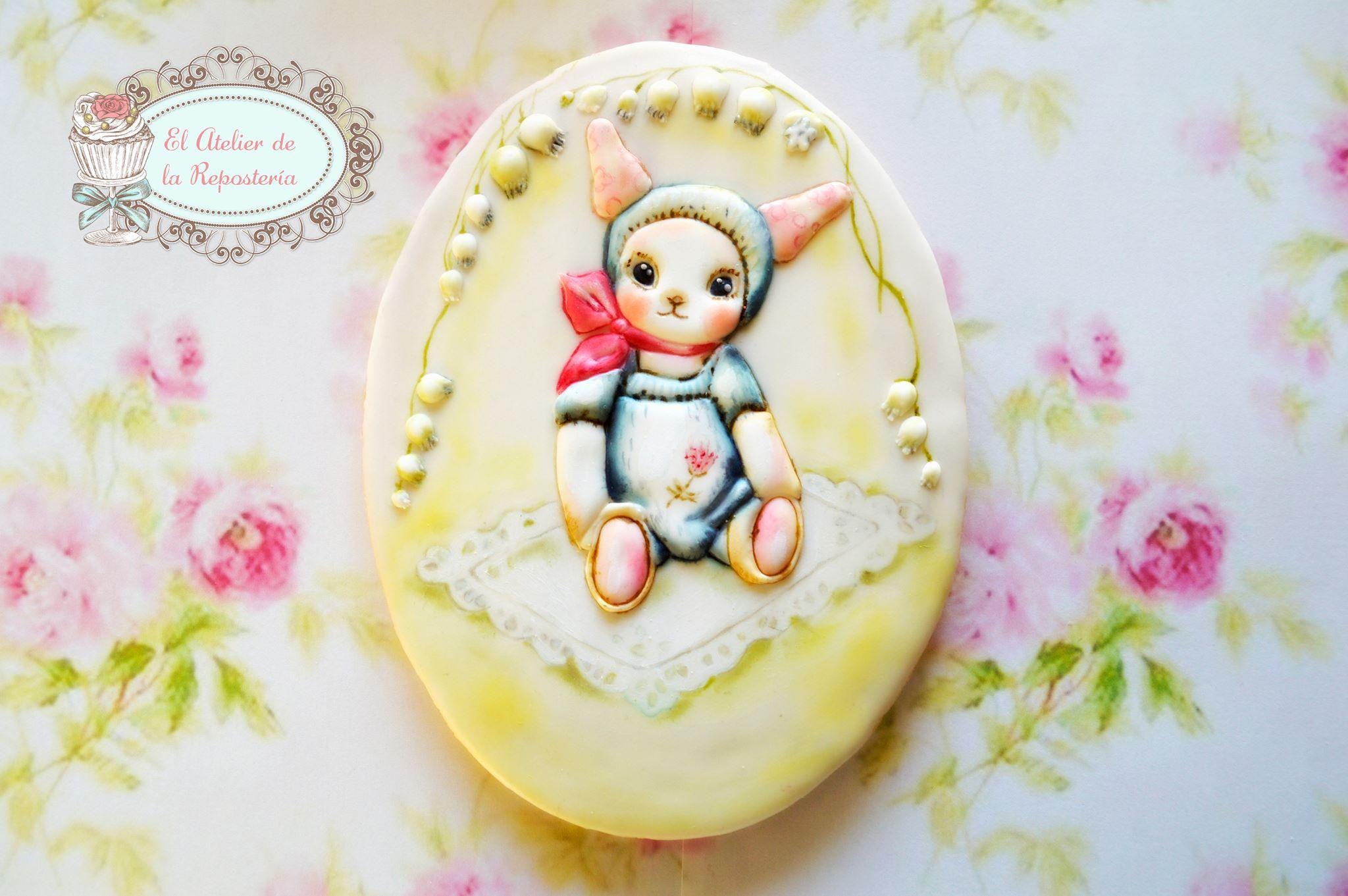 Handpainted baby cookie