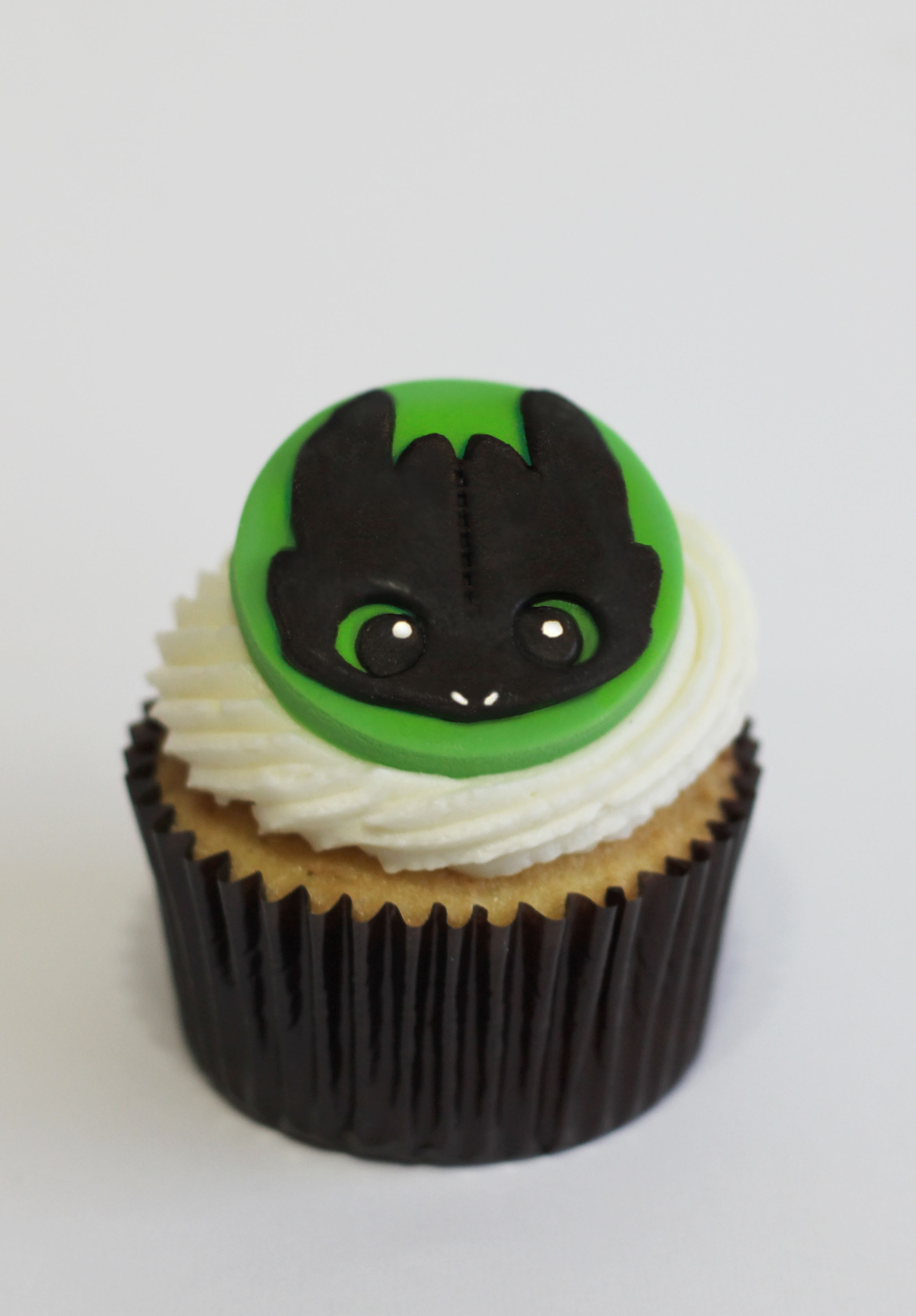 Toothless Cupcake Toppers Satin Ice
