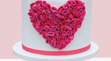 Ruffles Heart Cake Hero Print