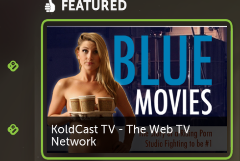 ... in the Featured section is for the Koldcast program on a Porn studio.