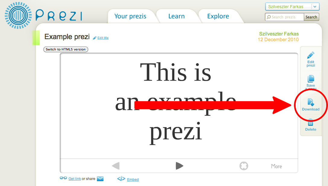 how to make prezi to pdf