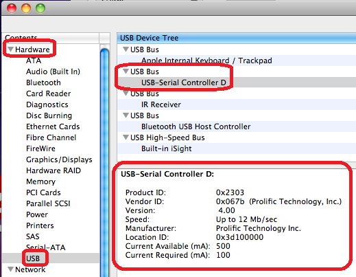 plugable topics issues with my mac detecting serial usb converter