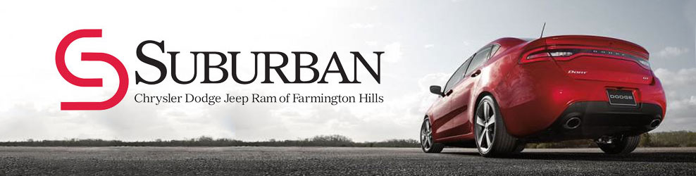 suburban chrysler dodge jeep ram of farmington hills mi coupons to saveon automotive. Black Bedroom Furniture Sets. Home Design Ideas