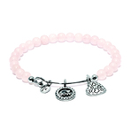 Chrysalis Guardian Rose Quartz Joy Expandable Charm Bangle