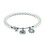 Chrysalis Guardian White Crystal Redemption Expandable Charm Bangle