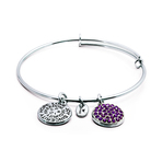 Chrysalis Good Fortune February Amethyst Crystal Bangle