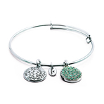 Chrysalis Good Fortune March Aquamarine Crystal Bangle