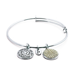 Chrysalis Good Fortune April Diamond Crystal Bangle