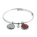 Chrysalis Good Fortune July Ruby Crystal Bangle