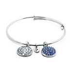 Chrysalis Good Fortune September Sapphire Crystal Bangle