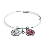 Chrysalis Good Fortune October Pink Tourmaline Crystal Bangle