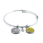 Chrysalis Good Fortune November Citrine Crystal Bangle