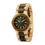 WeWOOD Date Watch - Beige/Army
