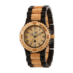 WeWOOD Date Watch- Black/Beige