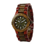 WeWOOD Date Watch - Brown/Army